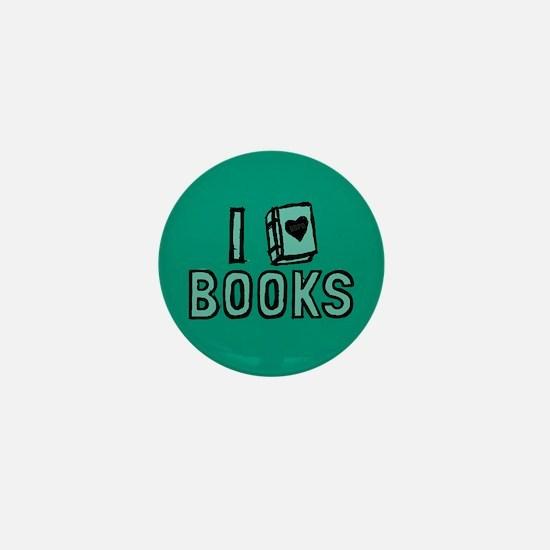 I Heart My Books Mini Button