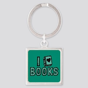 I Heart My Books Keychains