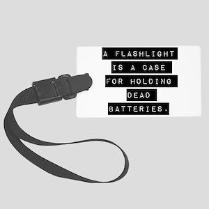 A Flashlight Is A Case Luggage Tag