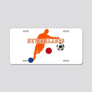 Netherlands Football Aluminum License Plate