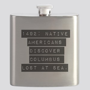 1492 Native Americans Flask