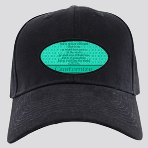 John16:33 The Word Aquamarine Black Cap