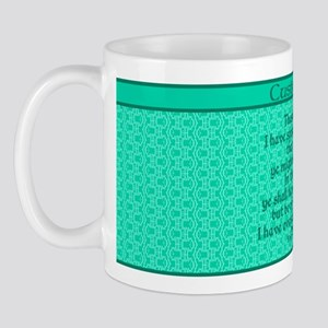 John16:33 The Word Aquamarine Mug