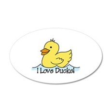 I Love Ducks Wall Decal