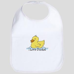 I Love Ducks Bib