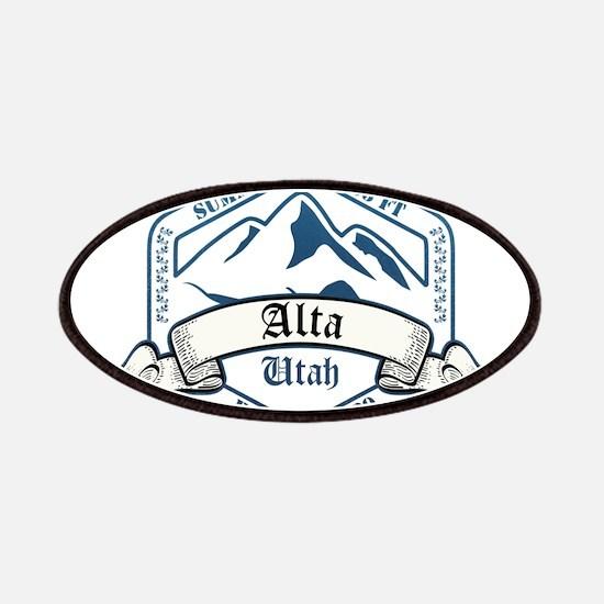 Alta Ski Resort Utah Patches
