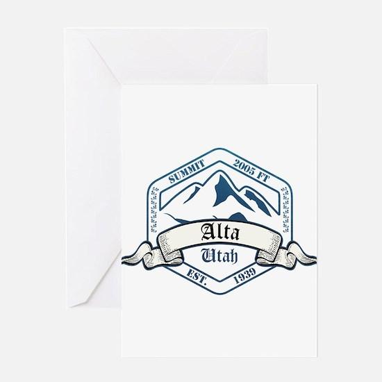 Alta Ski Resort Utah Greeting Cards