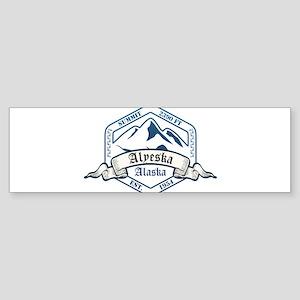 Alyeska Ski Resort Alaska Bumper Sticker