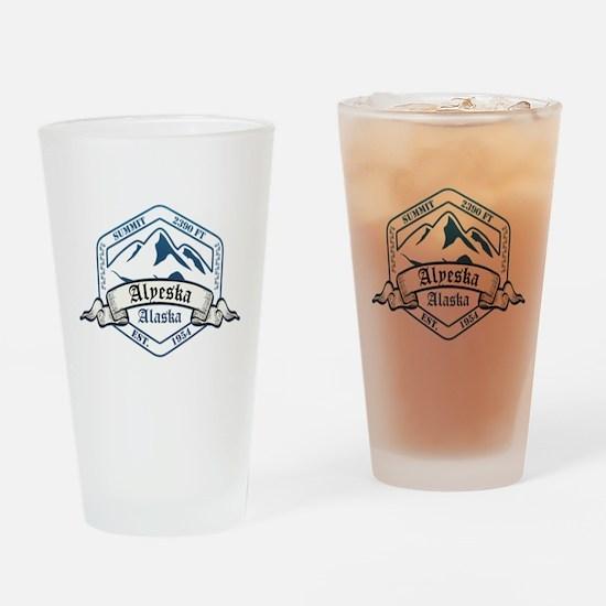 Alyeska Ski Resort Alaska Drinking Glass