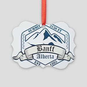 Banff Ski Resort Alberta Ornament
