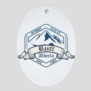 Banff Ski Resort Alberta Ornament (Oval)