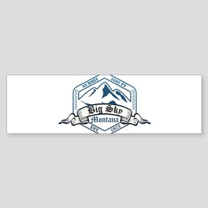 Big Sky Ski Resort Montana Bumper Sticker
