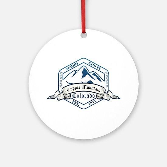 Copper Mountain Ski Resort Colorado Ornament (Roun