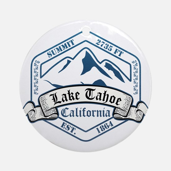 Lake Tahoe Ski Resort California Ornament (Round)