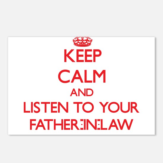 Keep Calm and Listen to your Father-in-Law Postcar