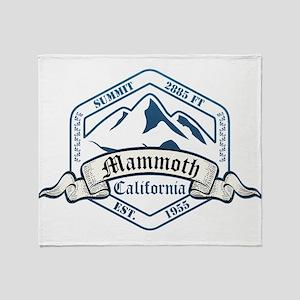 Mammoth Ski Resort California Throw Blanket