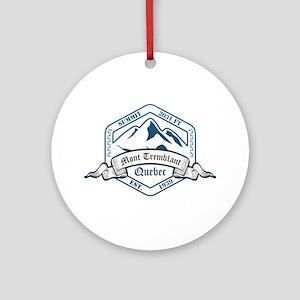 Mont Tremblant Ski Resort Quebec Ornament (Round)