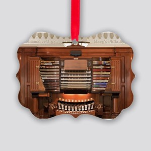 Wanamaker Organ Console Picture Ornament