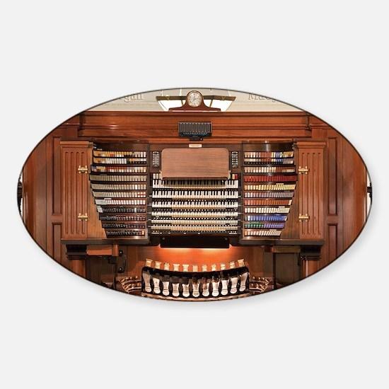 Wanamaker Organ Console Sticker (Oval)