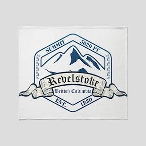 Revelstoke Ski Resort British Columbia Throw Blank