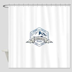 Schweitzer Ski Resort Idaho Shower Curtain