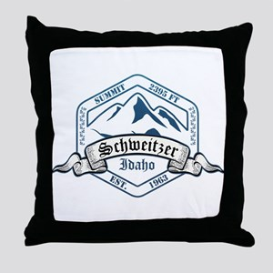Schweitzer Ski Resort Idaho Throw Pillow