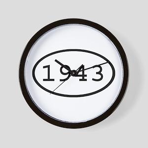 1943 Oval Wall Clock