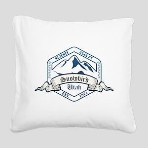 Snowbird Ski Resort Utah Square Canvas Pillow