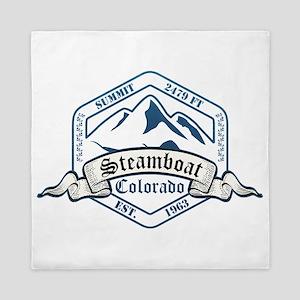Steamboat Ski Resort Colorado Queen Duvet