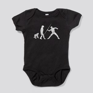 Distressed Javelin Throw Evolution Baby Bodysuit