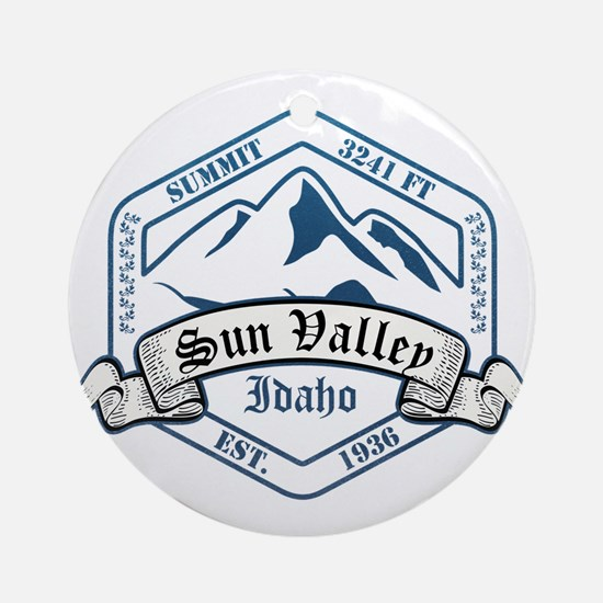 Sun Valley Ski Resort Idaho Ornament (Round)