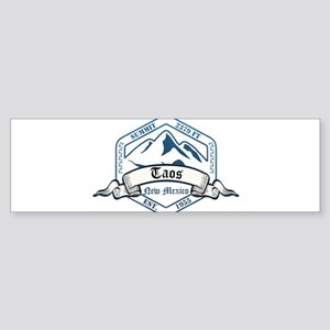 Taos Ski Resort New Mexico Bumper Sticker