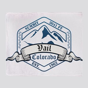 Vail Ski Resort Colorado Throw Blanket