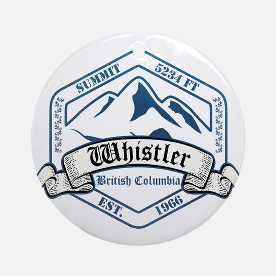 Whistler Ski Resort British Columbia Ornament (Rou