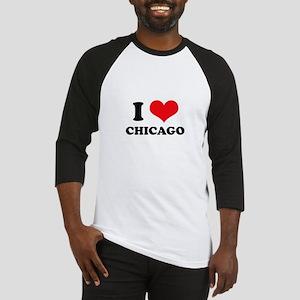 I Love (Heart) Chicago Baseball Jersey