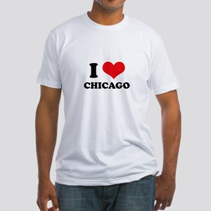 I Love (Heart) Chicago Fitted T-Shirt