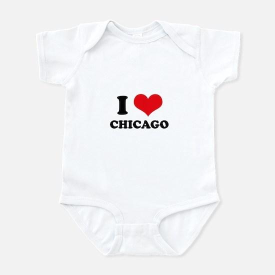 I Love (Heart) Chicago Infant Bodysuit