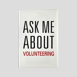 Ask Me Volunteering Rectangle Magnet