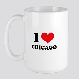 I Love (Heart) Chicago Large Mug