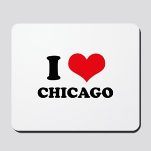 I Love (Heart) Chicago Mousepad