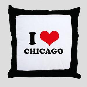 I Love (Heart) Chicago Throw Pillow