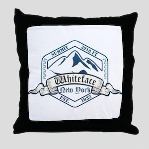 Whiteface Ski Resort New York Throw Pillow