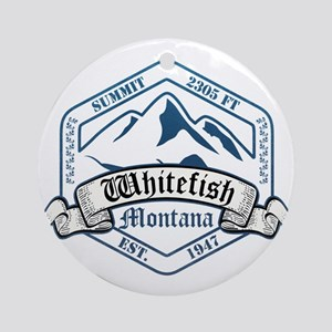 Whitefish Ski Resort Montana Ornament (Round)