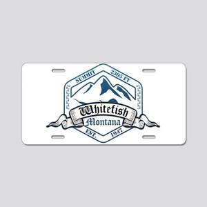 Whitefish Ski Resort Montana Aluminum License Plat
