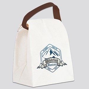 Whitefish Ski Resort Montana Canvas Lunch Bag