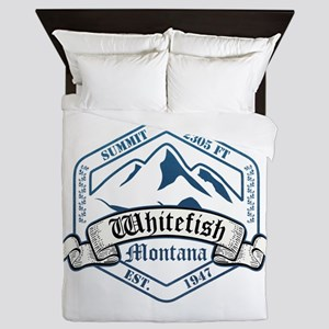 Whitefish Ski Resort Montana Queen Duvet