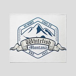 Whitefish Ski Resort Montana Throw Blanket