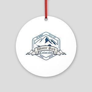 Winter Park Ski Resort Colorado Ornament (Round)