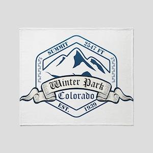 Winter Park Ski Resort Colorado Throw Blanket