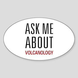 Ask Me Volcanology Oval Sticker